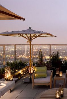 Rooftop garden..... gorgeous city view