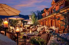 Jackson Hole, WY: Enjoy the beautiful mountains and hiking trails at this gorgeous rustic resort.