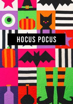 Witches get stitches! As discussed on Sewcial Sunday 09.27.2020 Stash Fabrics, Halloween Sewing, Fall Quilts, Foundation Paper Piecing, Quilt Kits, Hocus Pocus, Quilt Top, Coloring Sheets, Pattern Paper