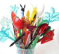 Vintage Swizzle Sticks - via Etsy.
