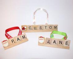 Custom Christmas Ornaments, Personalized ornament, Custom ornament, Scrabble, Scrabble Ornament, Christmas Ornament, Child gift, Grandparent