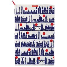 London Skyline Tea Towel from Emma Bridgewater Hampton Court London, Saint Paul London, Bedroom Canvas, Front Door Mats, College House, British Things, Mug, London Skyline, Houses Of Parliament