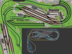 track plan to x L-shape: Grafenberg - Lots operation between the province and the city 12 Model Trains Ho Scale, N Scale Trains, Ho Trains, N Scale Train Layout, Ho Train Layouts, Image Train, Diorama, Model Railway Track Plans, Map Pictures