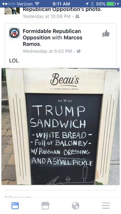 Trump sandwich                                                                                                                                                                                 More