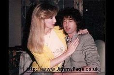 Jimmy Page of Led Zeppelin with Heather Daltrey (Roger's wife now of over 40 years)