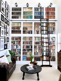 Home Library Rooms, Home Library Design, Dream Library, Home Libraries, Dream Home Design, House Rooms, My Dream Home, House Design, Bookshelf Inspiration