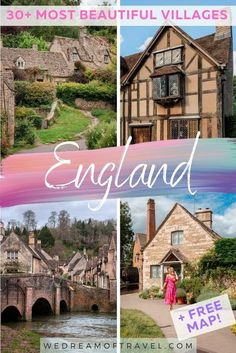 Discover all the prettiest villages in England from the Yorkshire down to the Cornish coast, and everything in between. From quaint rural villages to coastal towns, discover the most beautiful parts of England. #EnglandTravel #England #PrettiestPlaces #Photography