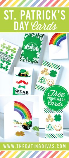 Fun cards that are full of love for St. Patrick's Day! Printables designed by JAB Creative Australia www.jabcreativeaustralia.com www.TheDatingDivas.com