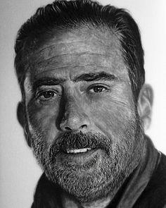 Negan - The Walking Dead - Pencil Portrait by Names76