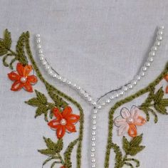 Add a classic touch to your dress with this neck embroidery design!😍