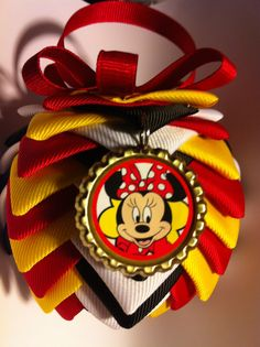 Mickey Minnie Folded Bottle Cap quilted by BOTTLECAPALICIOUS, $6.50
