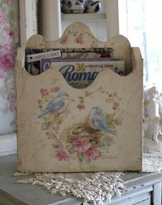 1 Blanc Shabby Chic, Style Shabby Chic, Shabby Chic Crafts, Vintage Shabby Chic, Deco Rose, French Chic, French Art, Victorian Decor, Painting On Wood