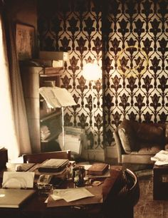 I am obsessed with the wallpaper at 221B Baker Street.