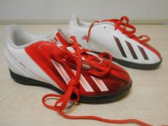 05aa422cdfd SIZE 11.5 Boys White Adidas fS Messi Sports Cleats NEW W Small Teeth 4 Grips