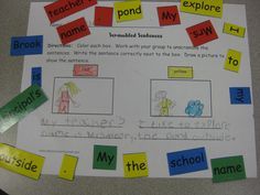 Scrambled Sentences Center - Students unscramble the sentences for this small group center.  The scrambled sentences are each created on their own color to make for easy student sorting.  After unscrambling the words, students record the sentence.  The scrambled sentences are available as a pdf or word document so that you may change the wording as needed for your students.