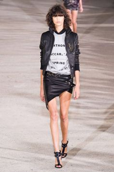 Anthony Vaccarello Spring 2015 helped kick off Paris Fashion Week today. See the best runway looks here.