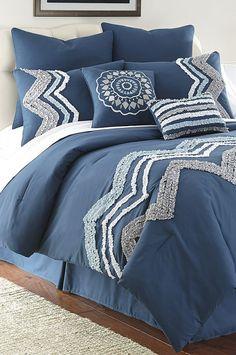 Blue Kira Comforter Set