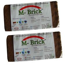 Coco Peat Briquettes 13 Kg (650gm X 20nos),160-180 Ltrs medium when expanded. 1150rs delivered