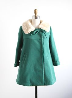 With a detachable faux fur collar, you can make it work with nearly any outfit! Great for outdoor or patio parties! Jade Vanessa Coat by Darling Cool Kids Clothes, Cute Baby Clothes, Love Fashion, Kids Fashion, Couture Coats, Outdoor Wear, Sweater Coats, Little Girl Dresses, Pretty Outfits