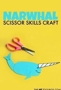 Make this narwhal craft and help kids improve scissor skills.
