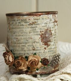 Anne's Paper Fun  upcycled tin can tutorial