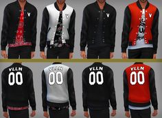 sims cc finds — infisim:  Leather Lettermen Jackets Teen-Elder...