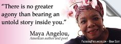 Maya Angelou is an American author and poet. She has published six autobiographies, five books of essays, several books of poetry, and is credited with a list of plays, movies, and television shows spanning more than fifty years. (Designed by Brian Scott, www.FreelanceWriting.com)