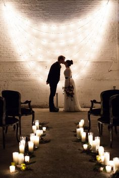 Lighting plays a very important role in setting the mood of a wedding event. Wheather the ceremony and reception are indoor or outdoor. Wedding lighting will not only enhance the look of the venue, but also tie everything together and add that final touch and literally brighten the mood! Try these string lights as an idea for your wedding ceremony. Will definitely make the setting more intimate and romantic.