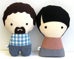 A Couple of Handmade Personalized Plush Dolls. Custom your own family. @etsy Valentines Day #uniquegift #fungift