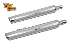 Muffler Set with Slash End Tips For Harley Davidson FLT 1995-UP #VTwinManufacturing