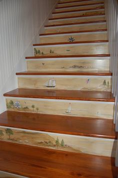 Painted Mural Steps.  Love this!!!
