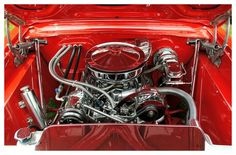 The engine in a 1964 Chevy Nova as seen at the 33rd Annual Poke Sallet Festival Car Show sponsored by the Upper Cumberland Mopar Club on May 7th, 2011. By =TheMan268, deviantART.