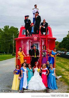 Cool Disney themed wedding…(she's wearing my wedding dress lol)