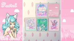 """xiivaleiix: """"Downloand pastel cute Crediti-Xiivaleiix Pastel paintings THE SIMS 4 Base"""""""