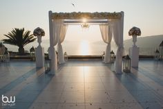 Melinda and Kamran's romantic Sunset View Terrace wedding in Santorini by The Bridal Consultant