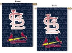 St Louis Cardinals Metallic House Flag