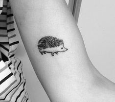 Mi primer tattoo by Octavio Camino #erizo #hedgehog #tattoo #tatuaje