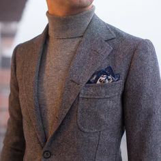 Pictoturo — paul-lux: Donegal bespoke jacket by.- Pictoturo — paul-lux: Donegal bespoke jacket by… Pictoturo — paul-lux: Donegal bespoke jacket by… - Fashion Mode, Grey Fashion, Winter Fashion, Mens Fashion Suits, Mens Suits, Stylish Men, Men Casual, Style Masculin, Look Man