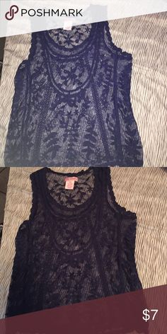 Candie's See Through Tank Top Only wore once size is an XS , always use button to make an offer 😊😊 Candie's Tops Tank Tops