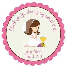 Firrst Communion Sticker First Communion by TheButterflyPress, $10.00