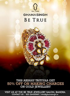 Beauty is… this dazzling fusion bracelet in gold, rubies and diamonds. Sure to add some sass to your favourite elegant dress, more so when the occasion is just as auspicious.