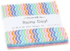 """Rainy Day~Cotton Fabric, Quilt, Craft, Charm Pack, 5"""" squares,Moda, Fast Shipping, CP384"""