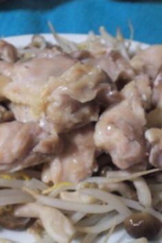 簡単蒸し鶏☆電子レンジ圧力鍋