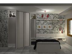 Dormitório casal com mini closet