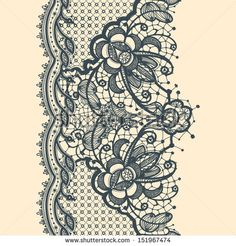 Find Lace Ribbon Vertical Seamless Pattern stock images in HD and millions of other royalty-free stock photos, illustrations and vectors in the Shutterstock collection. Lace Garter Tattoos, Ribbon Tattoos, Flower Tattoos, Band Tattoos, Girl Tattoos, Sleeve Tattoos, Lace Tattoo Design, Lace Design, Tattoo Designs