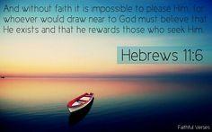 Faithful Verses - Hebrews 11:6