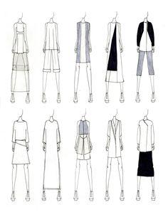 Fashion Portfolio - fashion design sketches; fashion illustrations; fashion sketchbook // Justine W. Lee
