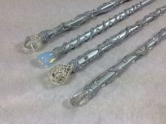 Silver Fairy Godmother Wand Magic Wand Wizard Wand by FairyMeShop