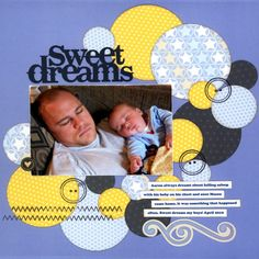 #scrapbooking--another circle..this would work great for our sleepy cuddle pictures