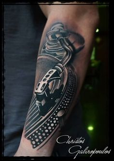 Pickup music tattoo by greek tattoo artist Christos Galiropoulos